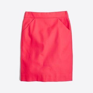 J Crew Double Surge Cotton Pencil Skirt